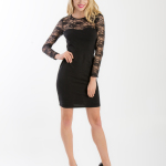 Šaty s krajkovými rukávy 009  - 1ks
